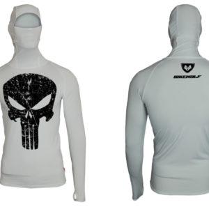 Hoodie Punisher White Lycra®