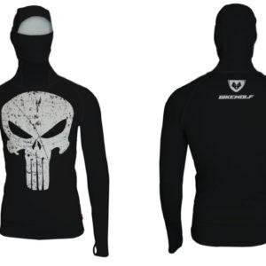 Hoodie Punisher Black Lycra®