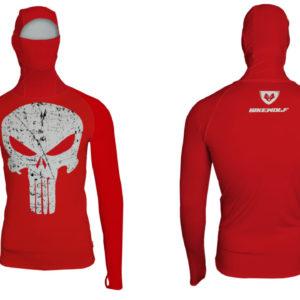 Hoodie Punisher Red Lycra®