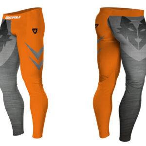 Legginsy Termo Orange Steel Lycra®