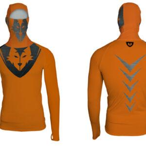 Hoodie Orange Steel Lycra®