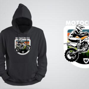 Bluza z kapturem Motocross